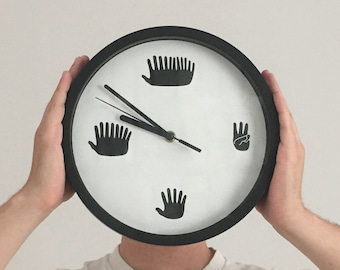 Hands Clock –Funny Minimal Silent Sweep Motion Clock with Hands for Numbers