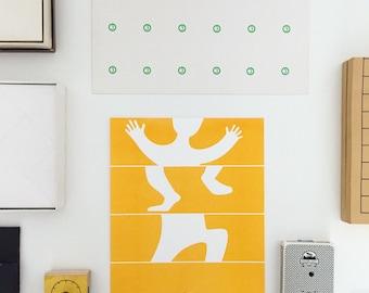 "Dancer – 8""x10"" Risograph Print"