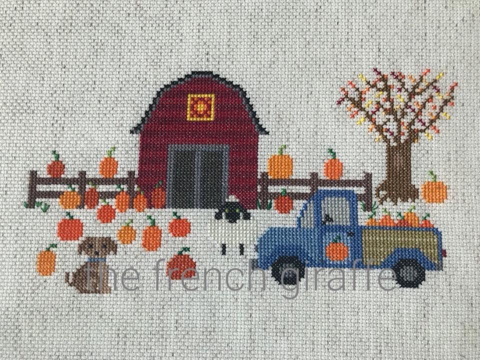 Pumpkin Farm Cross Stitch Pattern Instant Download Pdf Etsy
