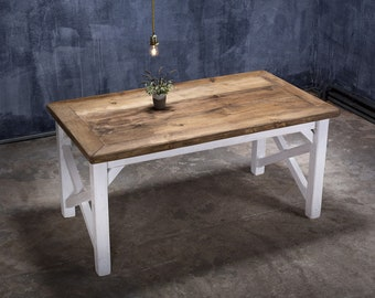 Timber Table In Villa Style Liv II 180 X 100 Cm