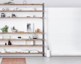 Shelf lumber/iron Sinem 220 cm