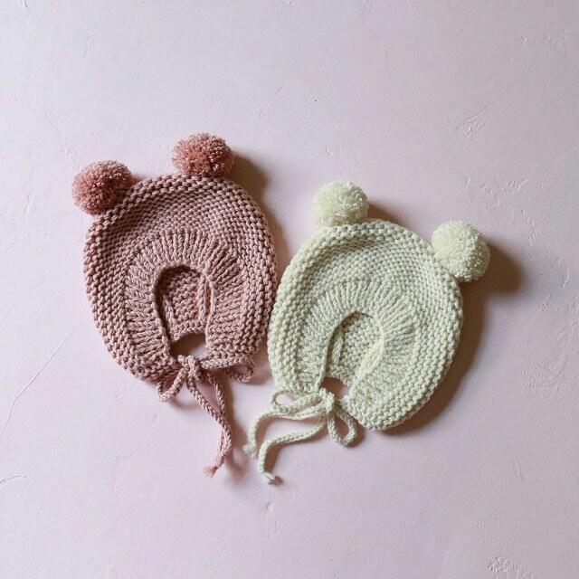 Muster Baby Mütze Baby Mütze Hand stricken Motorhaube | Etsy
