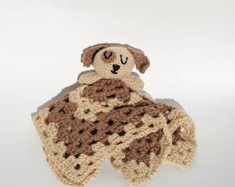 Puppy Lovey// Crochet Lovey // Security Blanket // Puppy Blanket