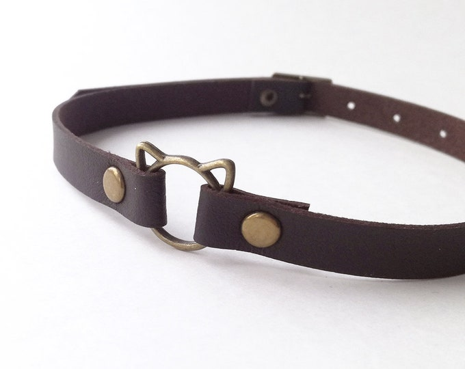 Chokers – faux leather
