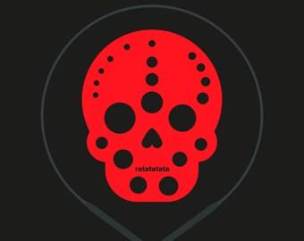joe gauge · knitting needle gauge · skull · knitting tools · lasercut · fluo