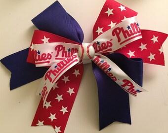 Philadelphia Phillies Hair Bow