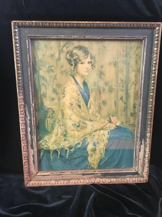 Alice Blue Gown Lithograph Print Original Art Deco/ Nouveau | Etsy