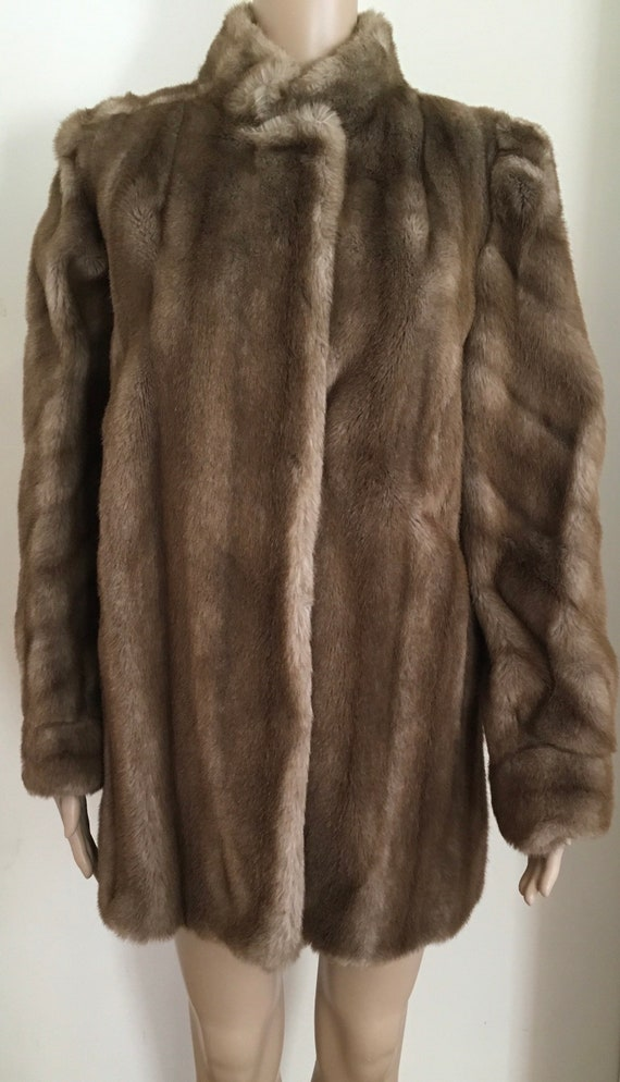 Vegan fur coat, vintage faux fur coat, vintage veg