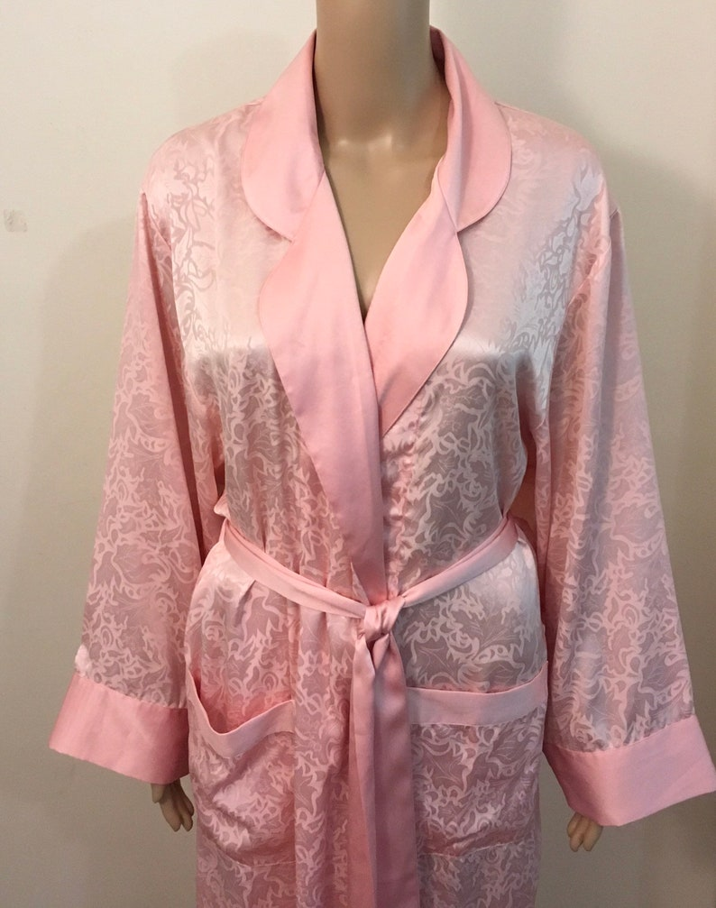 bb638caea1759 Vintage Victoria's Secret pink champagne Kimono Style Robe. Long silky robe  in pink champagne Victoria's Secret OS sexy robe. Vintage Victor