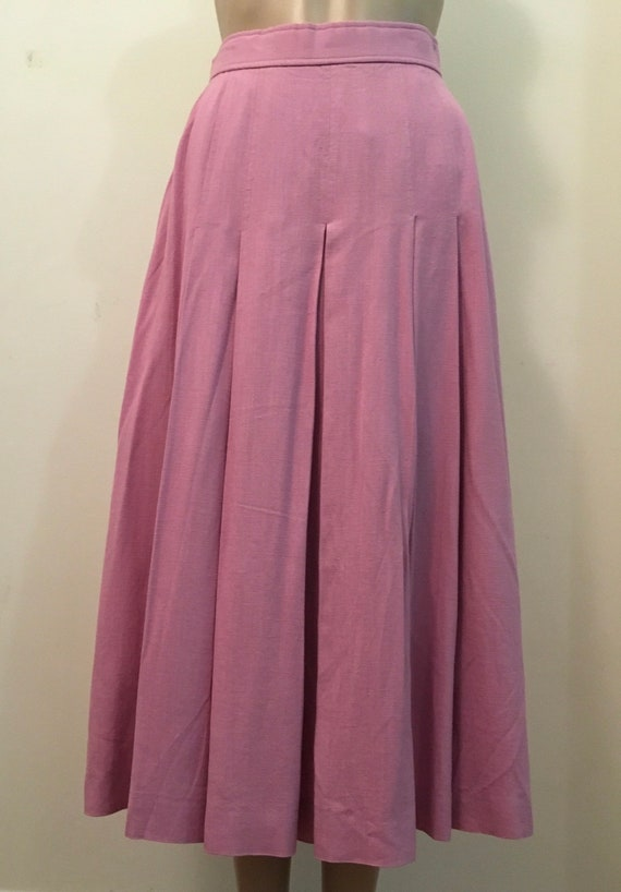 Vintage pink linen skirt. Long linen skirt small.