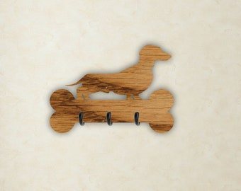 Schnauzer Dog Breed Leash Hook Leash collar storage hanger Custom Made Add Dog Name \u00a9Dan Morris Artwork by Dan Morris Personalize