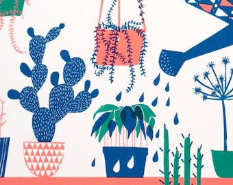 Limited Edition Screenprint : Houseplants