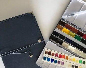 Watercolorist Journal and Watercolor paint kit Bundle -Save on this set