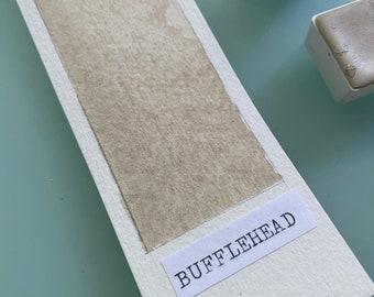 Handmade Watercolor paint Bufflehead Buff Titanium White artist paint  HALF and WHOLE pans -  Non toxic