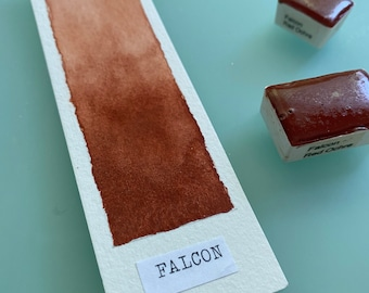 Handmade Watercolor paint CI Y43 Falcon Red Ochre artist paint HALF and WHOLE pans - Non toxic