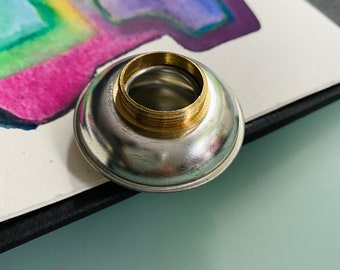 Stainless Steel Artist Metal Clip on Paint Palette Cup