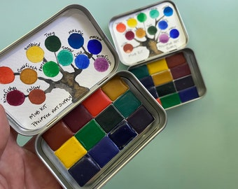 12 pan watercolor kits