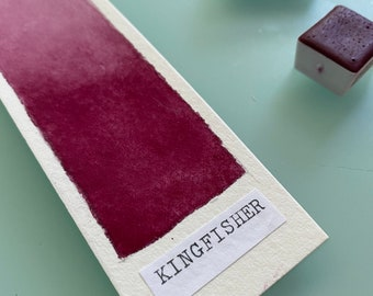 Handmade Watercolor paint PR12 Kingfisher Red Artist Paint HALF and WHOLE Pans - Non toxic
