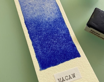 Handmade Watercolor paint PB29 Macaw Ultramarine Blue artist paint  WHOLE and HALF pans - Non toxic