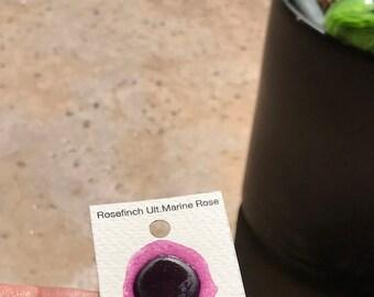 Dot Card Handmade Watercolor Paint Rosefinch Ultramarine Rose