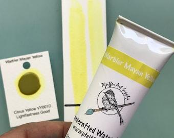 Watercolor Handmade Tube Paint Warbler Mayan Yellow  1.5 oz(44 ml)