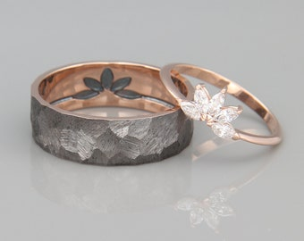 His And Her Wedding Bands.His And Hers Wedding Bands Etsy
