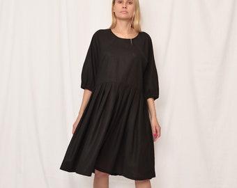 linen dress women sale, Black linen tie belt dress, linen dress free shipping, women linen dress, linen dress sale 40%, dress for women sale