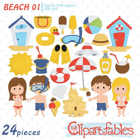 Digital Downloads Summer Fun Png Digital Stickers Cliparts And Backgrounds