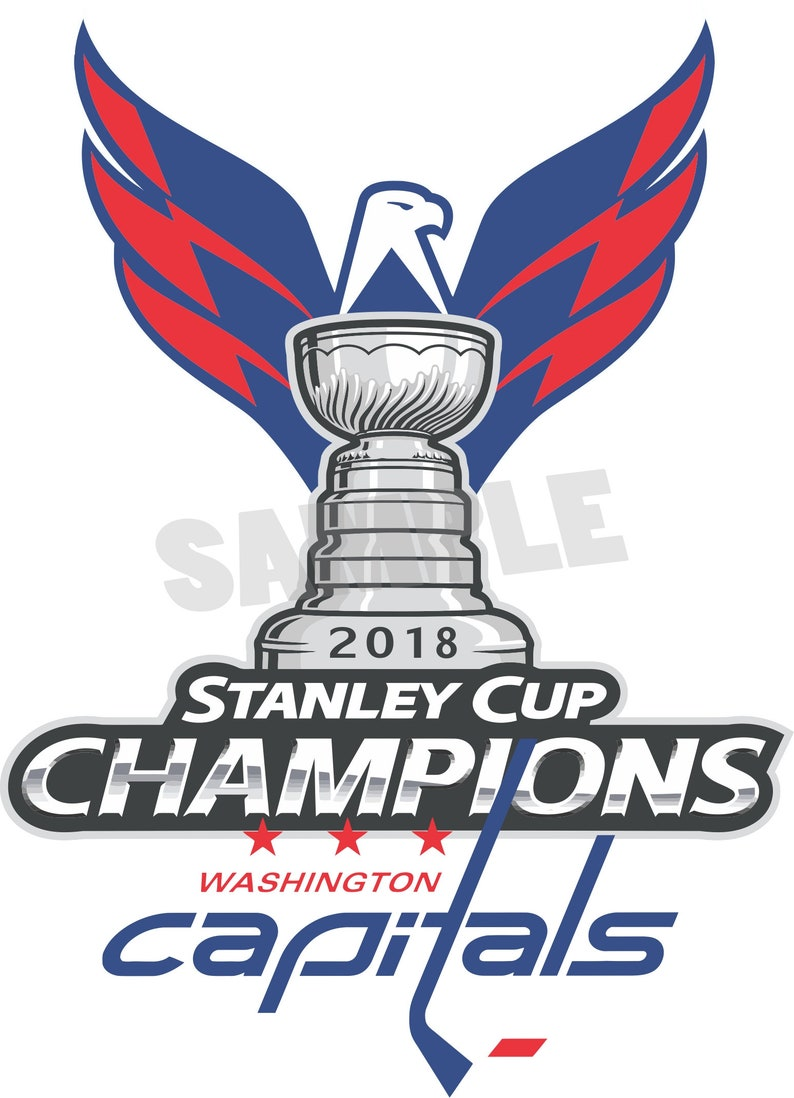 b7fa31d288d Washington Capitals 2018 Stanley Cup Champions Decal   Sticker