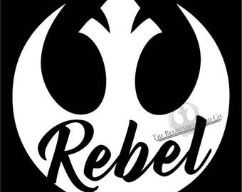 star wars decal rebels early rebel alliance logo car window etsy