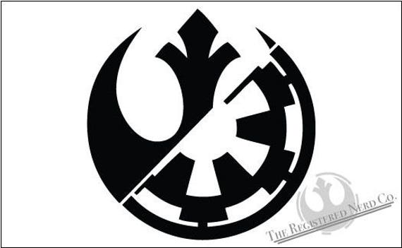 rebel alliance galactic empire hybrid vinyl decal star wars etsy
