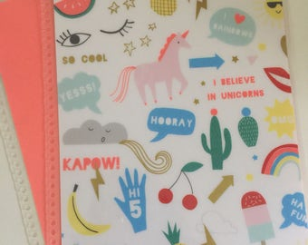 I believe in Unicorns Cover for Erin Condren or Recollections planner