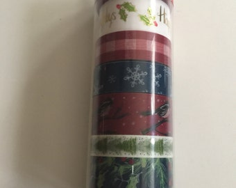 Christmas  Happy Holidays Washi Set
