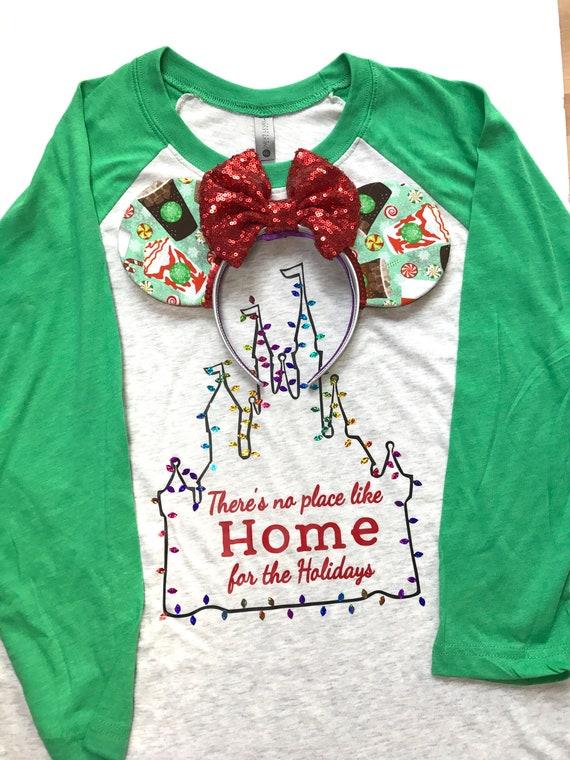 Disney Christmas Shirts.Disney Christmas Shirt Disney Christmas Family Shirts Home For The Holidays Disney Castle Mickeys Very Merry Party