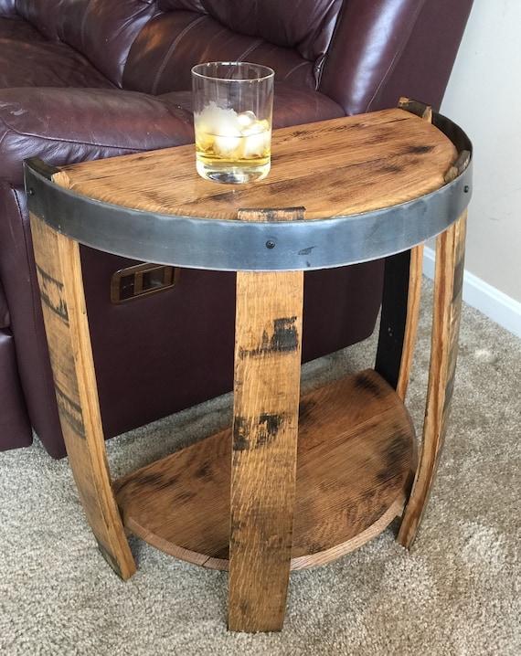 Bourbon Barrel Half End Table, Bourbon Barrel Furniture