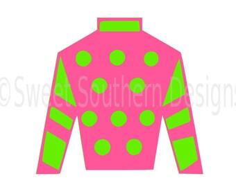 Jockey Silk Monogram Kentucky Derby SVG Instant Download Design For Cricut Or Silhouette