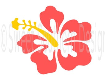 Hibiscus hawaii flower SVG instant download design for cricut or silhouette