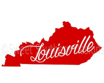 Louisville Kentucky SVG instant download design for cricut or silhouette