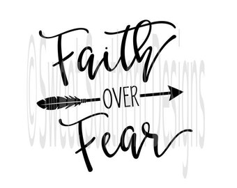 faith over fear etsy Faith Base Hats faith over fear svg pdf dxf instant download design for cricut or silhouette