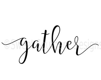 gather DXF SVG PDF instant download design for cricut or silhouette