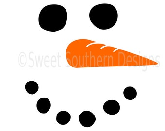 Snowman face winter christmas SVG instant download design for circuit or silhouette