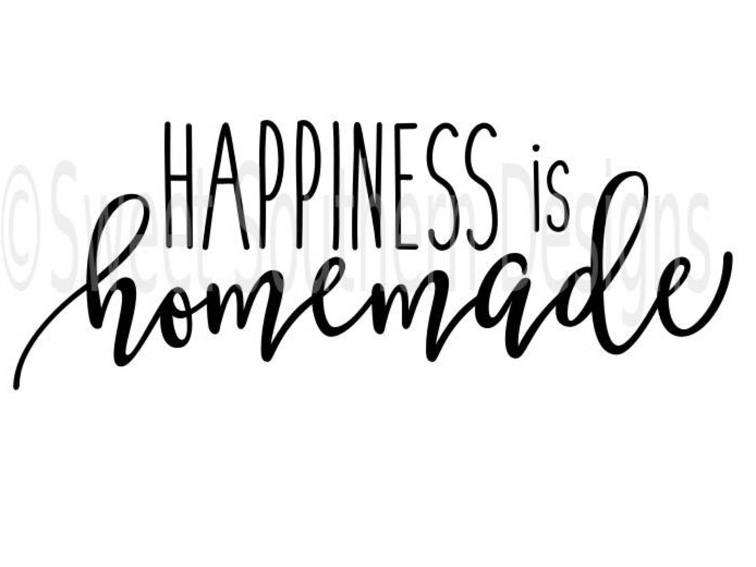 Gorgeous image for happiness is homemade