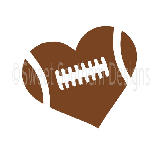 football heart svg dxf pdfinstant download design for cricut etsy