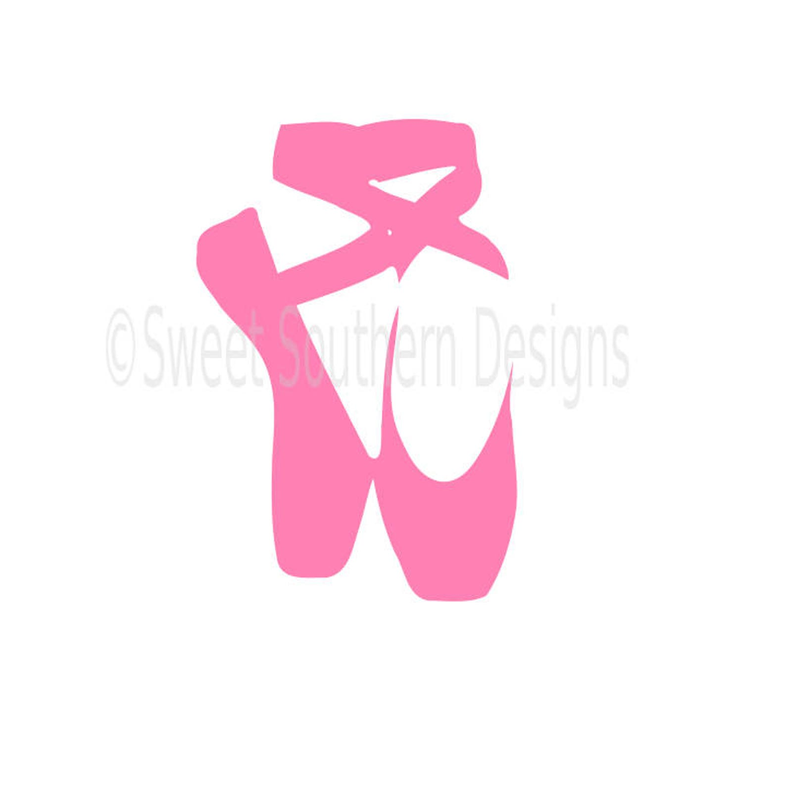 ballet shoes svg instant download design for cricut or silhouette