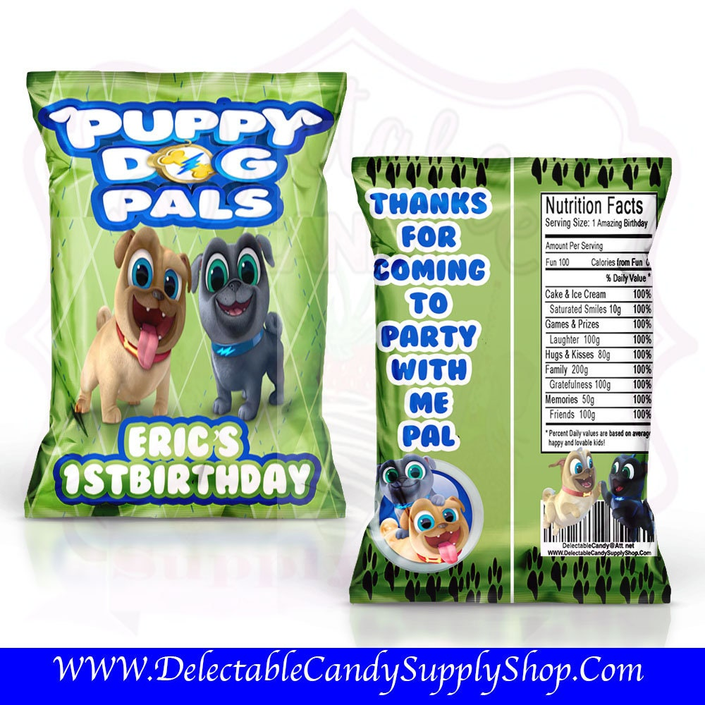 Puppy Dog Pals Favor Bags Custom Chip Bags Puppy Dog Pals Chip Etsy