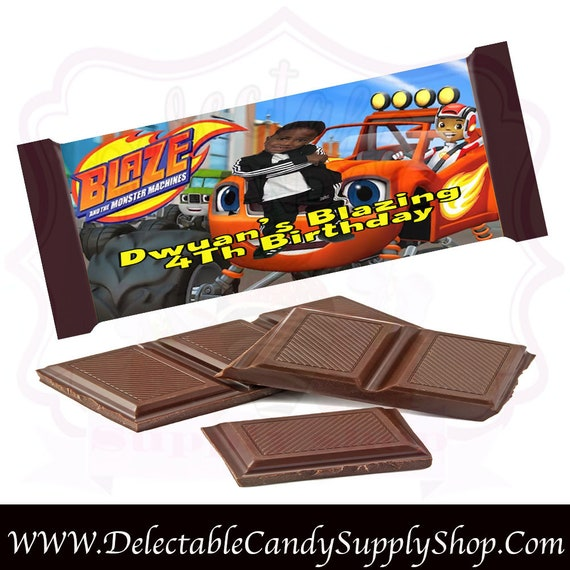 Blaze Candy Bar Wrapper Custom Candy Bar Wrapper Chocolate Etsy