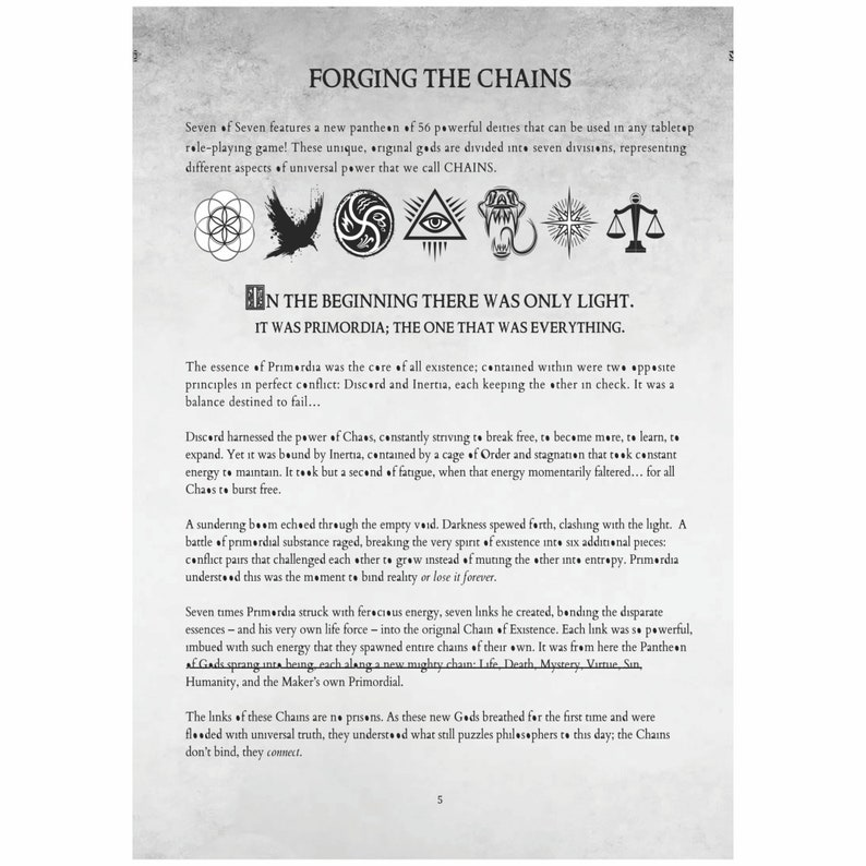 Seven of Seven Pantheon of the Chain