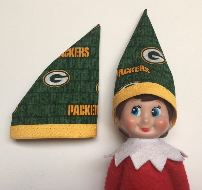 c487aadd Green Bay Packers Hat - Fits Christmas Elf Girl or Boy Doll - Wisconsin NFL  Football Game Day - Sports Theme