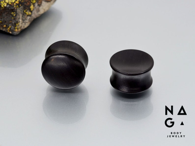 WHOLESALE AVAILABLE Ebony wood ear plugs gauges stretchers - Handmade 1 pair 2 Organic Sizes From 4 mm to 52 mm 6G
