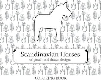 Dala Horse Coloring